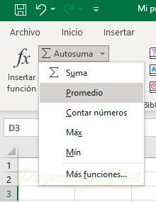 Curso Excel 2021 – La herramienta Autosuma